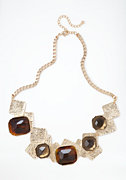 bebe Geometric Stone Statement Necklace