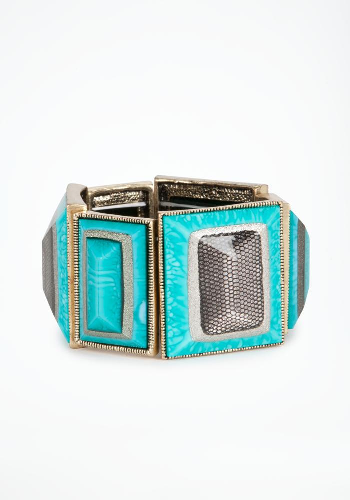 Oversized Rectangular Stretch Bracelet