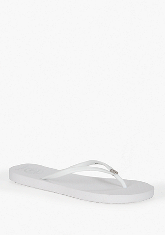 bebe Interlocked bebe Logo Flip Flop