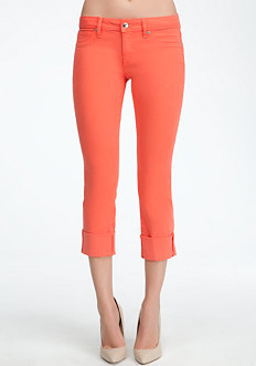 Icon Cuffed Crop Jeans at bebe