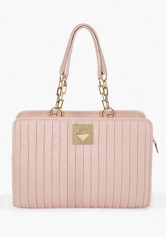 bebe Robertson Pleated Leather Tote