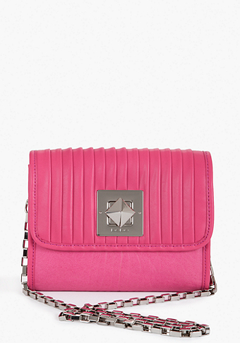 Robertson Pleated Leather Crossbody at bebe