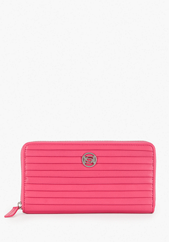 Robertson Zipper Leather Wallet at bebe