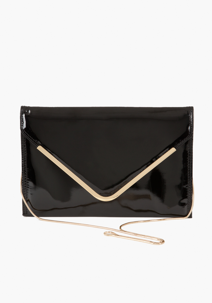 Oversized Envelope Clutch - Blk - 1Sz
