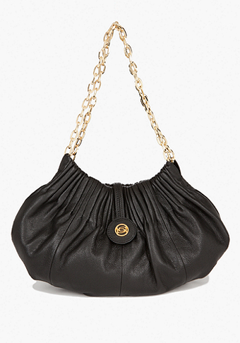 bebe La Cienega Small Leather Hobo Bag
