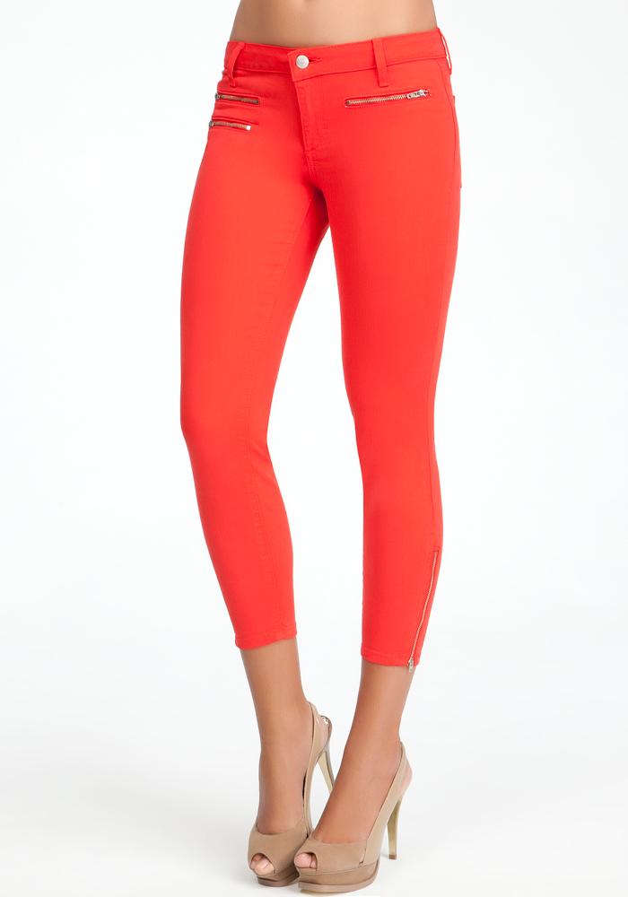 Multi Zipper Crop Jeans