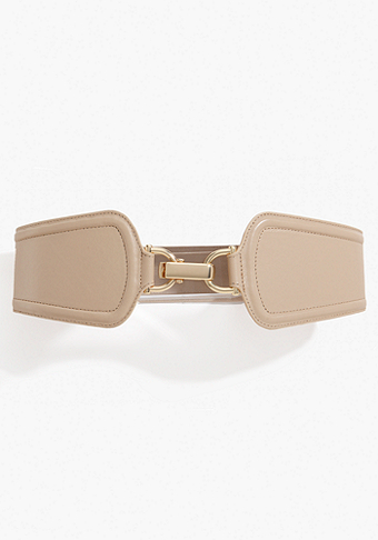 bebe Leather Center Front Belt