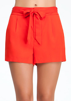 bebe Wrap Around Tie Shorts