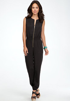 bebe Open Back Jumpsuit