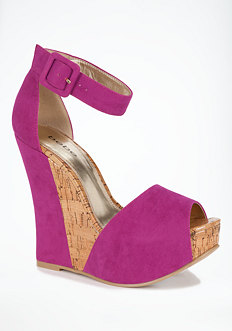 Carissa Faux Suede Wedge Sandal - WEB EXCLUSIVE at bebe