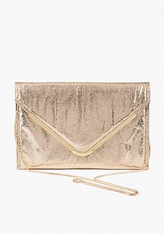 bebe Oversized Metallic Envelope Clutch