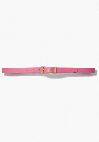 bebe Signature Skinny Leather Belt