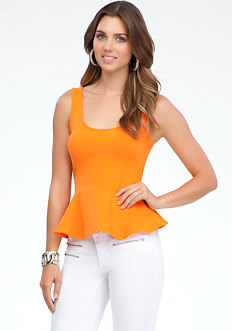 Peplum Tank Top - ONLINE EXCLUSIVE at bebe