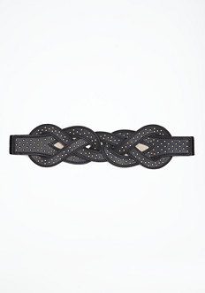 bebe Interlocking Stone Stretch Belt