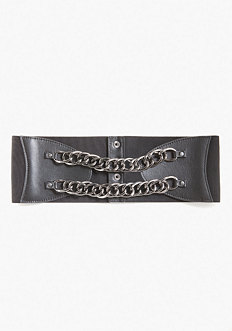 bebe Snake Chain Stretch Belt