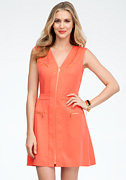 bebe Multi Pocket Zipper Front Dress
