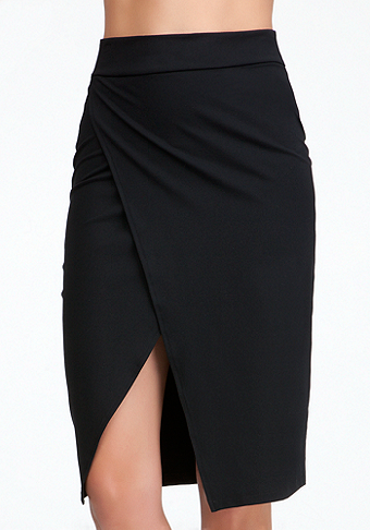 Open Slit Wrap Skirt - ONLINE EXCLUSIVE at bebe
