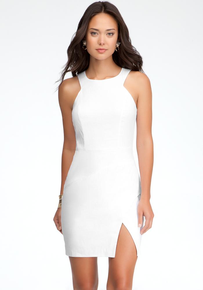 Lucy Geometric Linen Dress