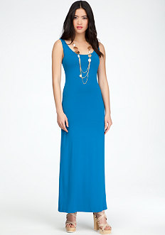bebe High Slit Maxi Dress