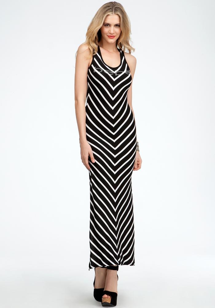 Chevron Rib Tank Dress - ONLINE EXCLUSIVE