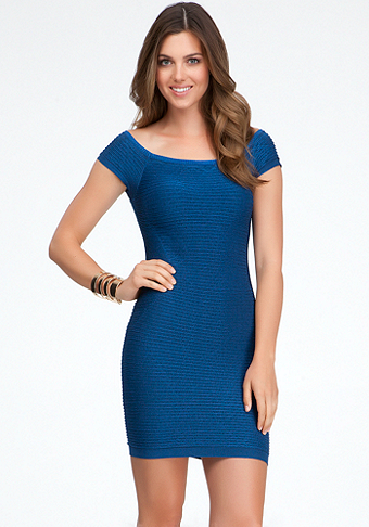 bebe Raglan Ottoman Bodycon Dress