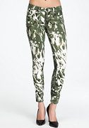 bebe Abstract Camo Icon Skinny Jeans