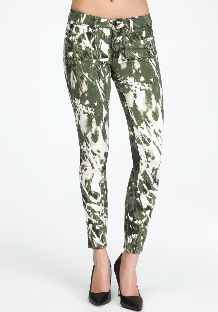 Abstract Camo Icon Skinny Jeans