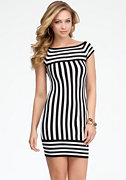 bebe Multi Directional Stripe Sweater Dress