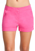 Cuffed Trouser Shorts at bebe