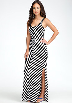 bebe Stripe Maxi Dress