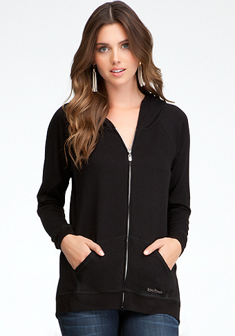 Cocoon Zip Front Jacket at bebe