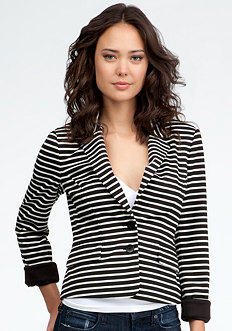 bebe Casual Knit Striped Blazer