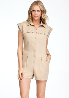 bebe Sleeveless Romper