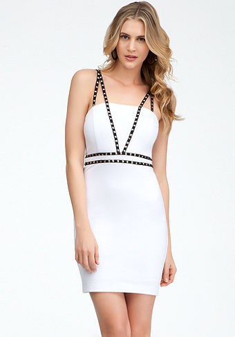 Studded & Binded Dress at bebe