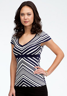 bebe Stripe Block Top