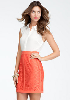 bebe Circle Lace Skirt Dress