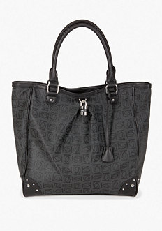 bebe Logo Monogram Tote Bag