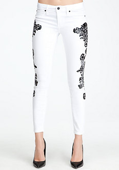 Lace Icon Skinny Jeans at bebe