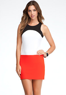 bebe Pauline Colorblock Dress