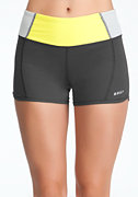 Stripe Colorblock Shorts - BEBE SPORT at bebe
