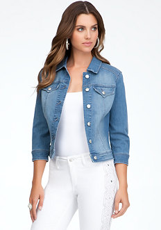 bebe Western Pocket Denim Jacket