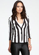 Two Button Stripe Blazer at bebe