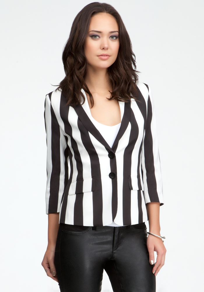 Two Button Stripe Blazer
