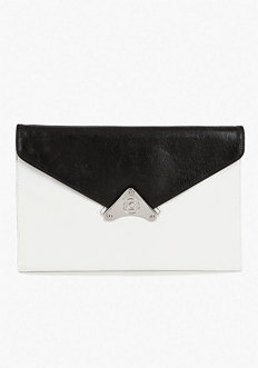 bebe Reversible Leather Envelope Clutch