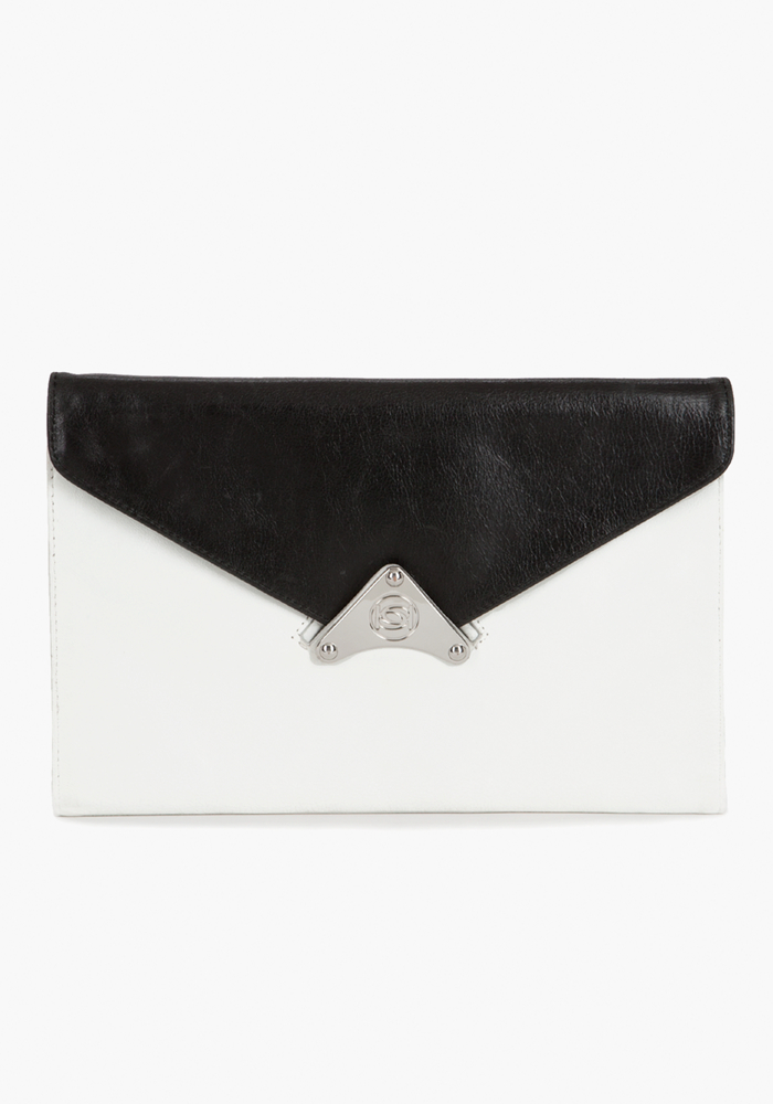 Reversible Leather Envelope Clutch