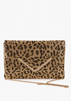 bebe Oversized Mesh Envelop Clutch