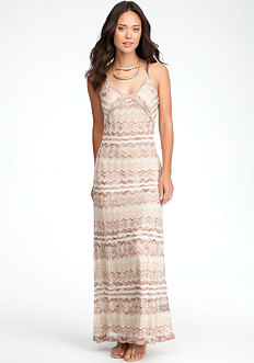 bebe Multi Stripe Maxi Dress