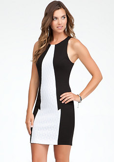bebe Racerback Contrast Front Dress