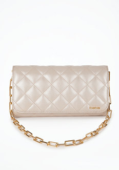 Quilted Leather Clutch at bebe