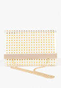 bebe Spike Oversized Clutch